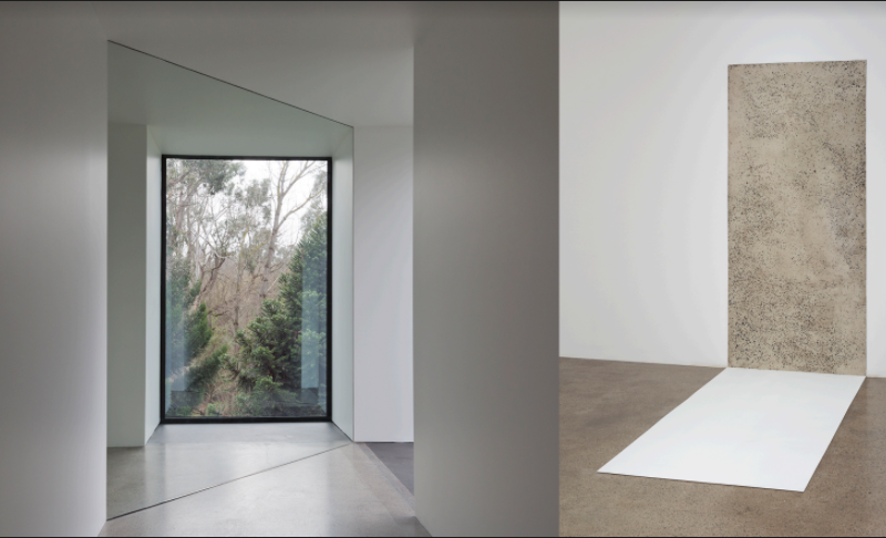 he resonating sound of a fist Natasha Johns-Messenger. Left: Echo, 2016. Right: Herethere, 2016. Installation sites: Sightlines, Heide Museum of Modern Art, Melbourne Australia © Natasha Johns-Messenger, 2016 Photo credit: Christian Capurro.punching a wall, 2016. Sound installation, variable dimensions