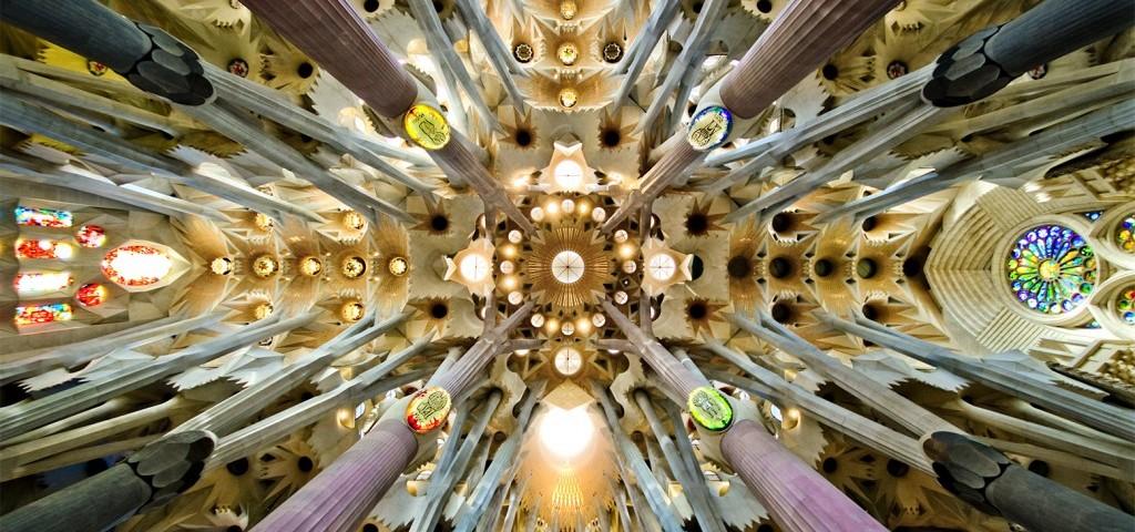 Sagrada Familia. Nave Roof Detail. By SBA73 (https://www.flickr.com/people/7455207@N05?rb=1)